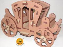 Puzzle 3D Coche Medieval